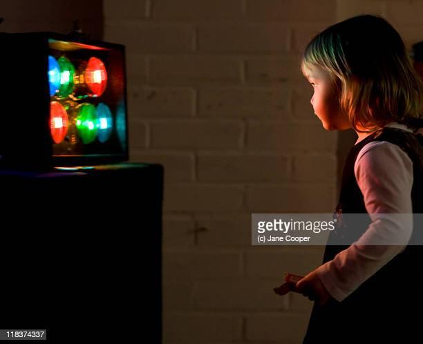 Little girl at disco