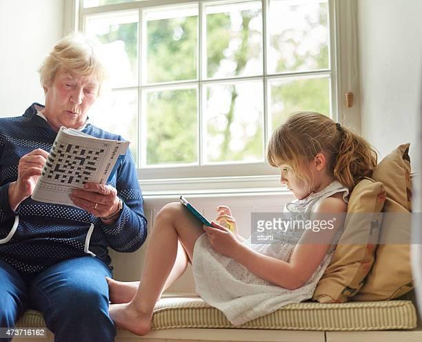little girl at grandma's house
