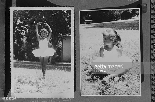 Little Girl Dancing in 1963.Black And White.
