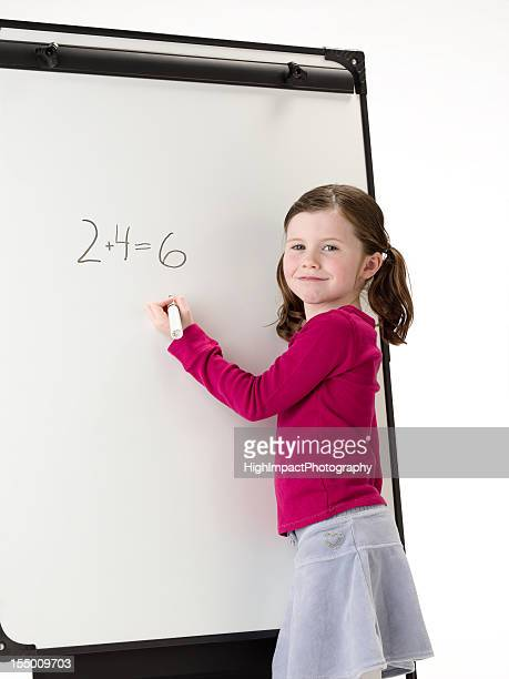 Little Girl Doing Math