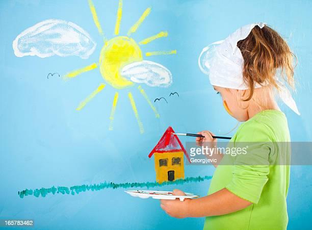 Bambina disegno