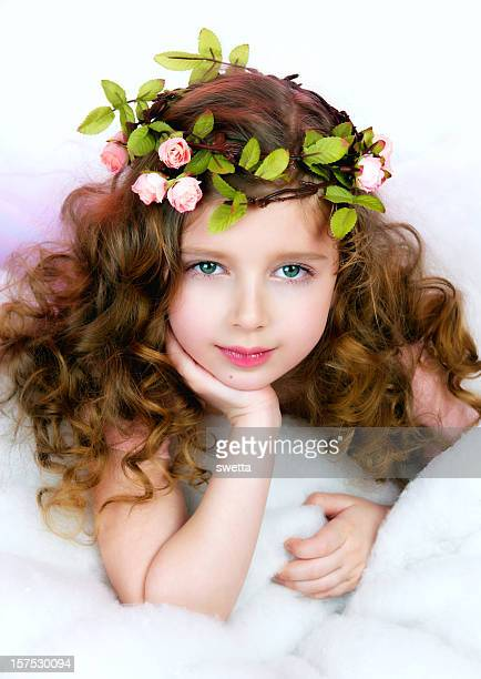 Little girl dressed in a fairy costume