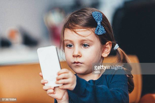Little girl enjoying playing