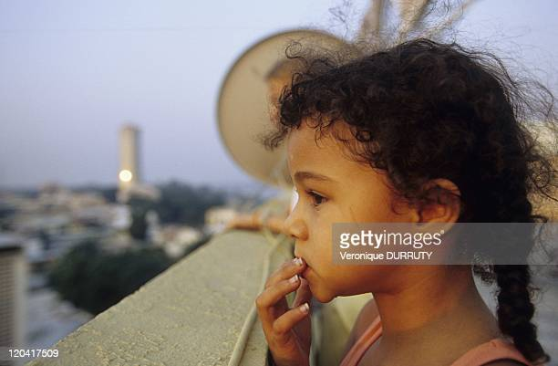 Little Girl Enjoying The View From The Roof Of The City Center Building In Brazzaville Congo