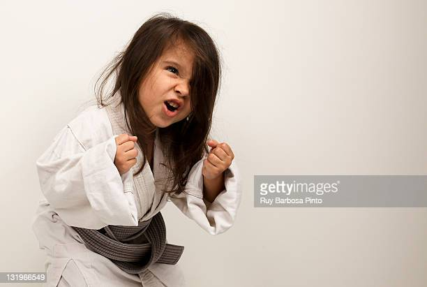 Little girl fighting judo