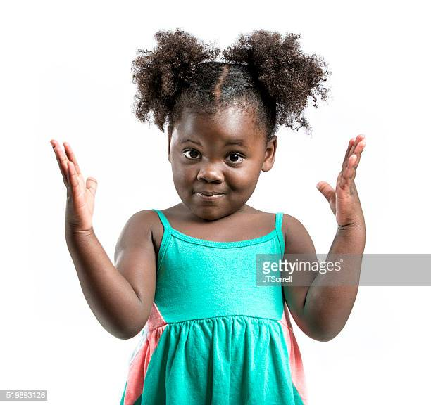 Little Girl Gesturing with Hands