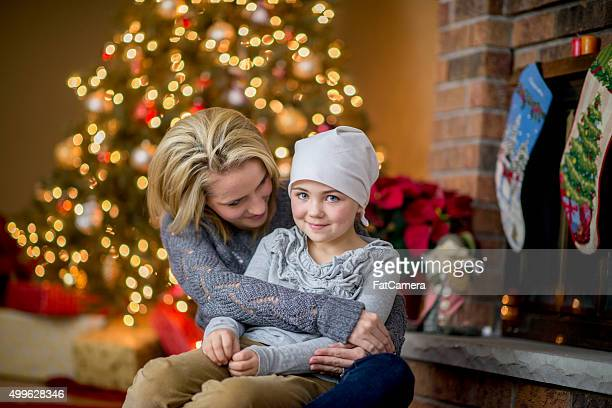 Little Girl Happily Sitting with Her Mother