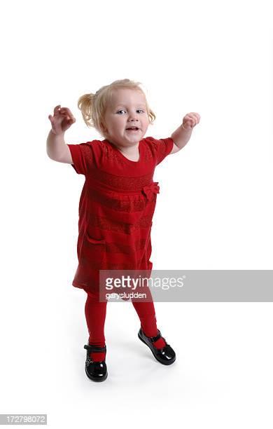 little girl having fun dancing