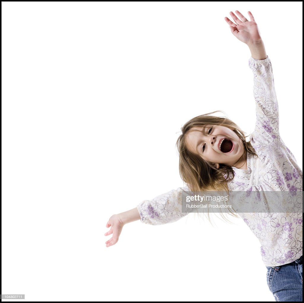 little girl having fun : Stock Photo