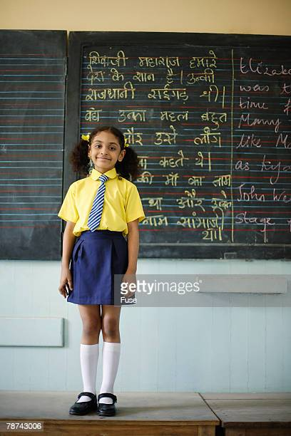 Little Girl in a Classroom