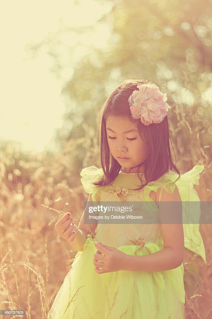 A little girl in a fairy costume : Stock Photo