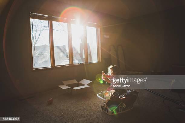 Little girl In a Sunny Room