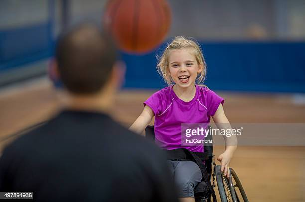 Little Girl in a Wheelchair