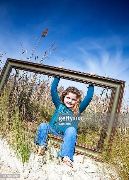 Little Girl in Big Frame