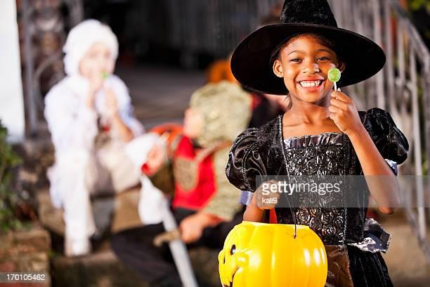 Little girl in halloween costume