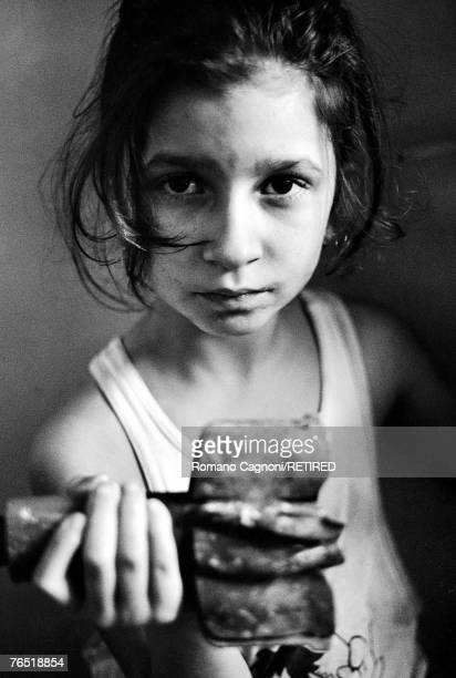 A little girl in Sarajevo during the Bosnian War 1992