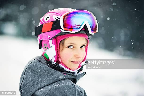Little girl in ski gear