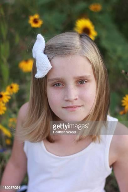 Little Girl in Sunflowers