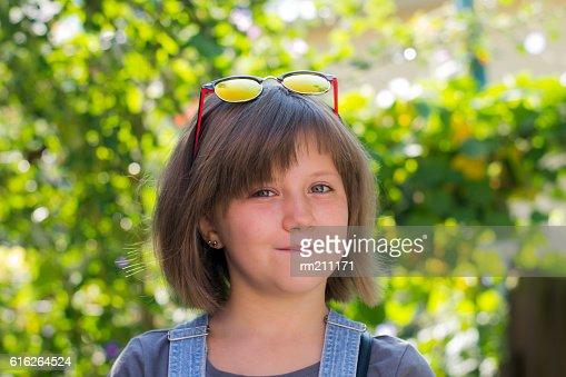 little girl in sunglasses : Stock Photo