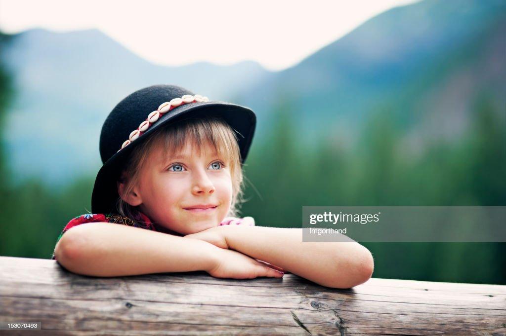 Little girl in Tatra mountains : Stock Photo