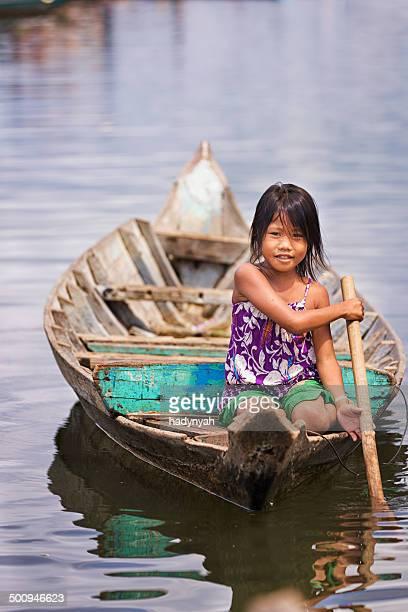 Little girl in the boat, Cambodia