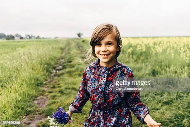 Little girl in the field