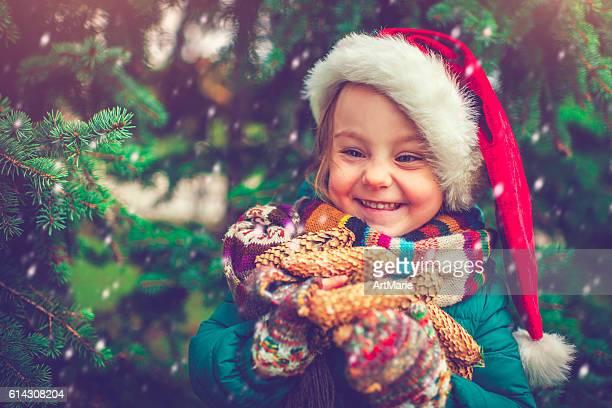 Petite fille de Noël