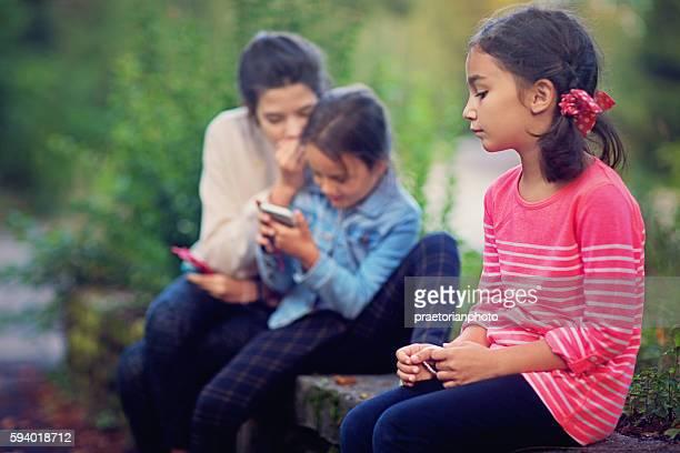Little girl is isolated