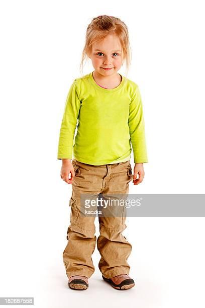 Kleines Mädchen, isoliert auf weiss