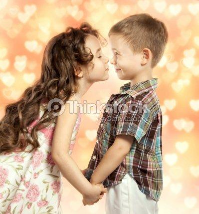 Little girl kissing boy stock photo thinkstock little girl kissing boy stock photo thecheapjerseys Gallery