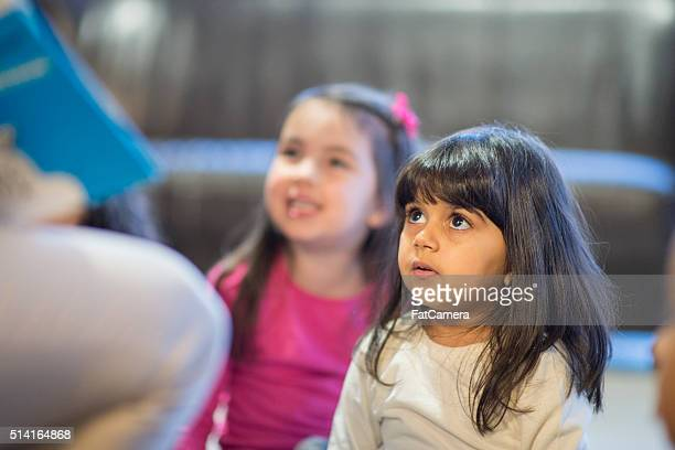 Little Girl Listening to a Story