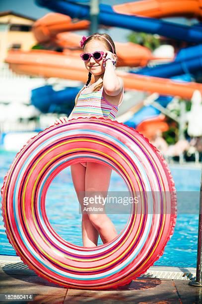 Little girl near the pool