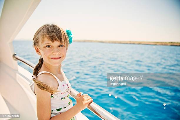 Little girl on a boat