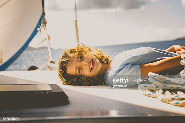Little Girl on a Sailboat