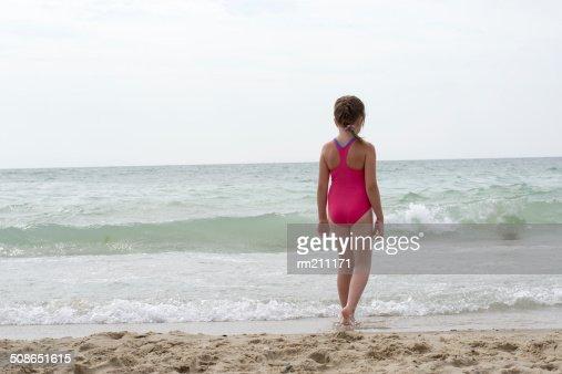 little girl on the beach : Stock Photo