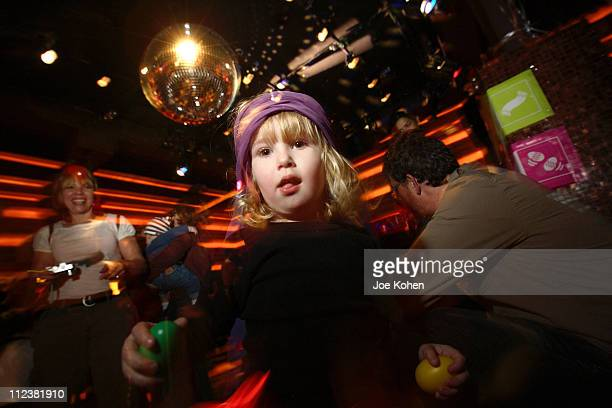 Little girl on the dance floor at the Cileo club in New York City during the 'Baby Loves Disco' Party on Jan 13 2007 The monthly event is an...