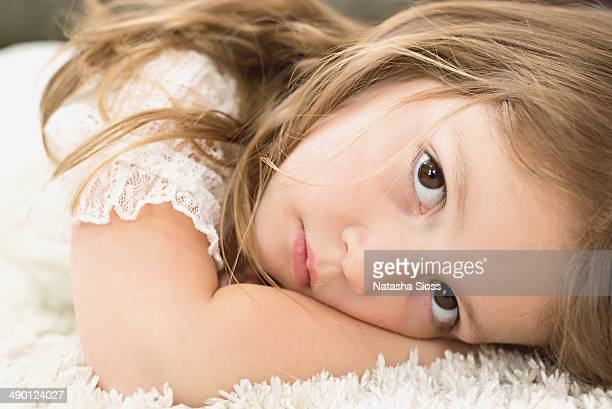 Little girl on the rug