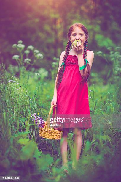 Little girl outdoors in summer