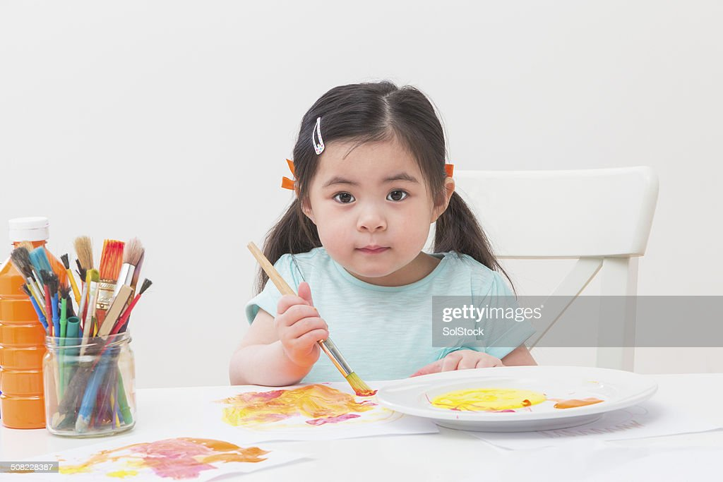 Little Girl Painting