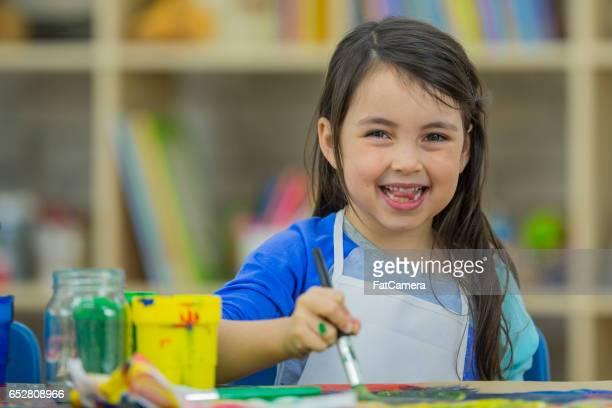 Kleines Mädchen Malerei