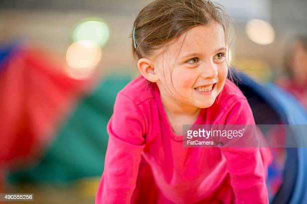 Little Girl Playing at Day Care