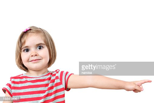 Little Girl Pointing Stock Photo | Getty Images