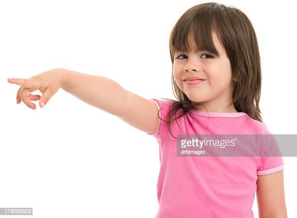 Kleines Mädchen zeigt
