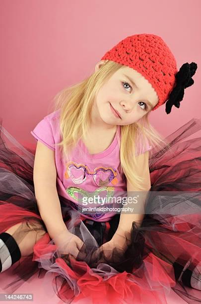 Little girl punk tutu and crochet hat