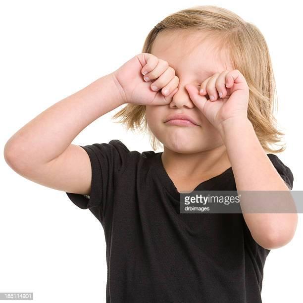 Little Girl Rubbing Eyes