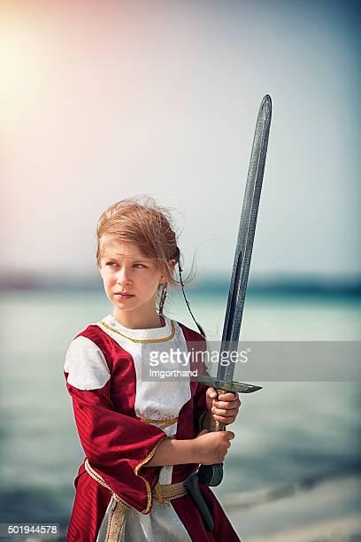 Little girl shieldmaiden