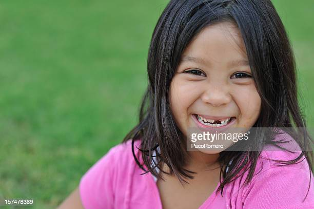 Petite fille souriant