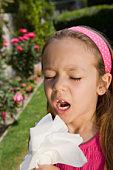 Little Girl Sneezing