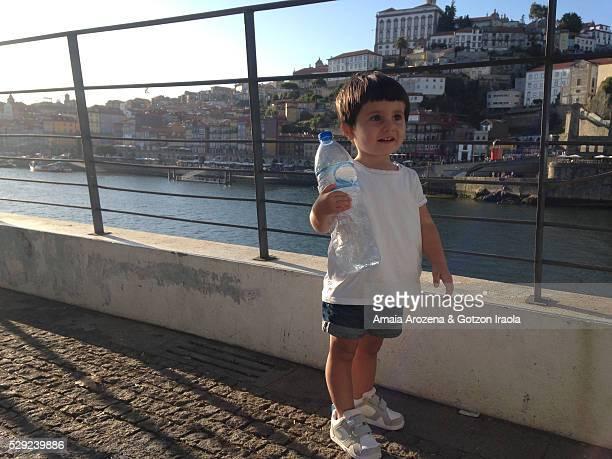 Little girl standing in Oporto