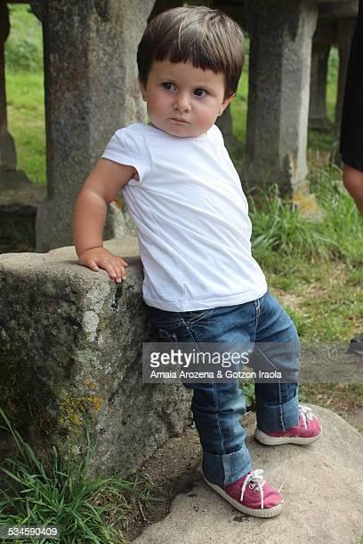 Little girl standing